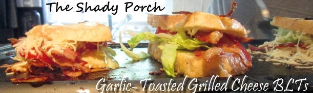 Garlic-Toasted Grilled Cheese Garlic-Toasted Grilled Cheese BLT #sandwich #easy #cheese #bread