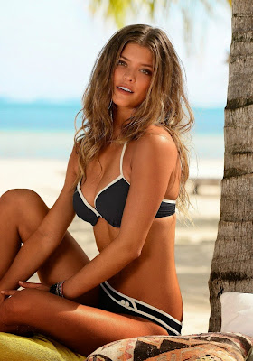 Nina Agdal looks hot in sexy bikini for S.Oliver Swimwear Model