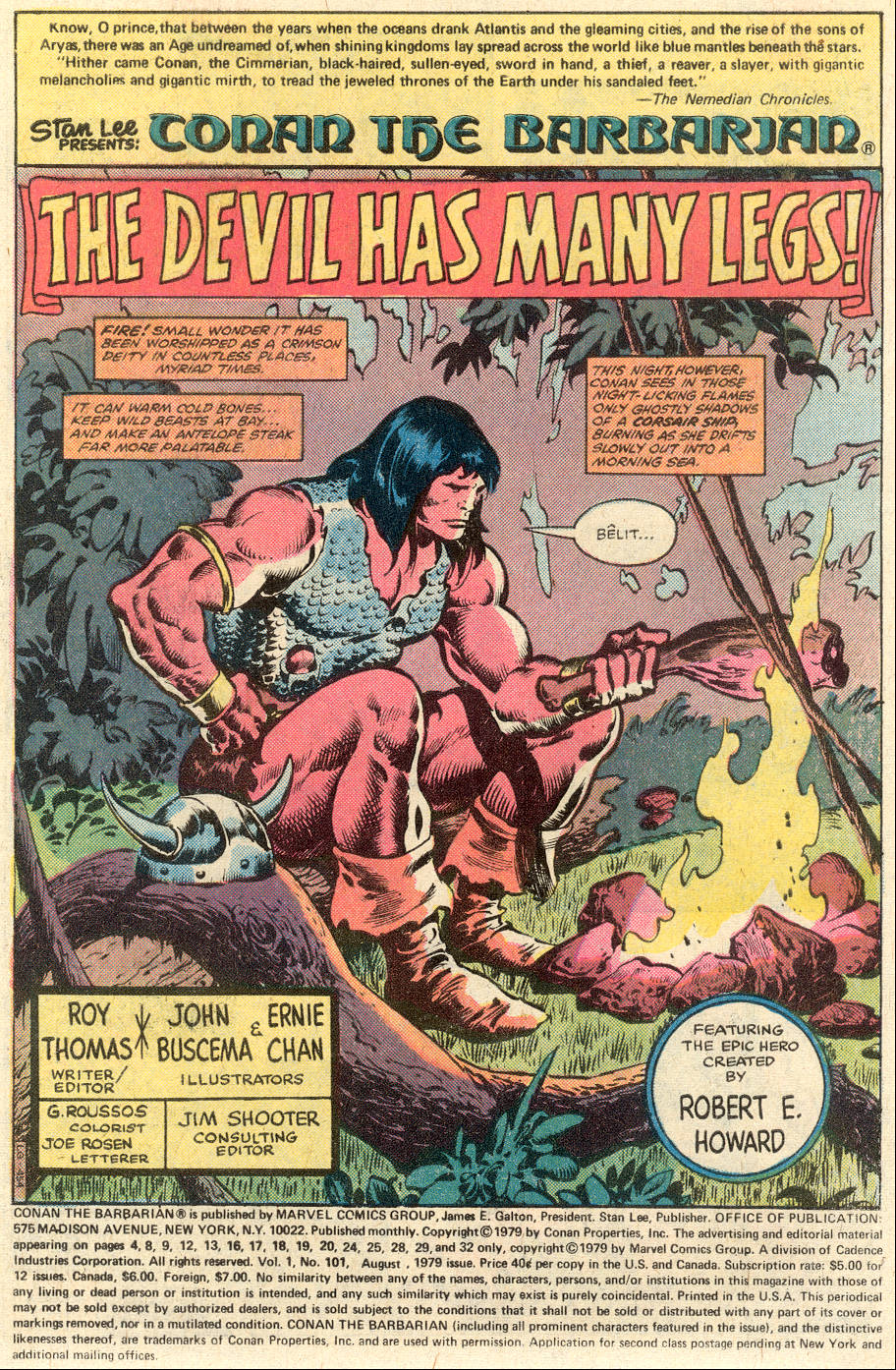 Conan the Barbarian (1970) Issue #101 #113 - English 2
