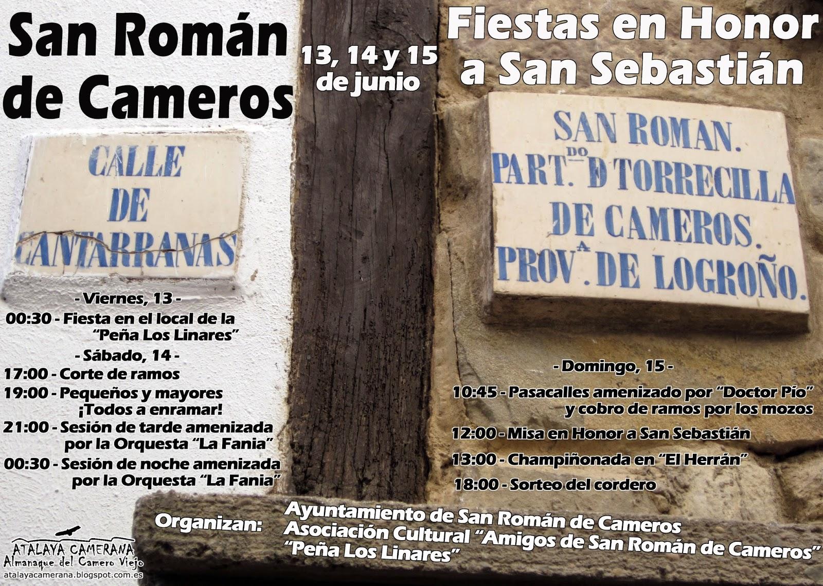 13, 14 y 15 de junio: Fiestas de San Sebastián en San Román de Cameros