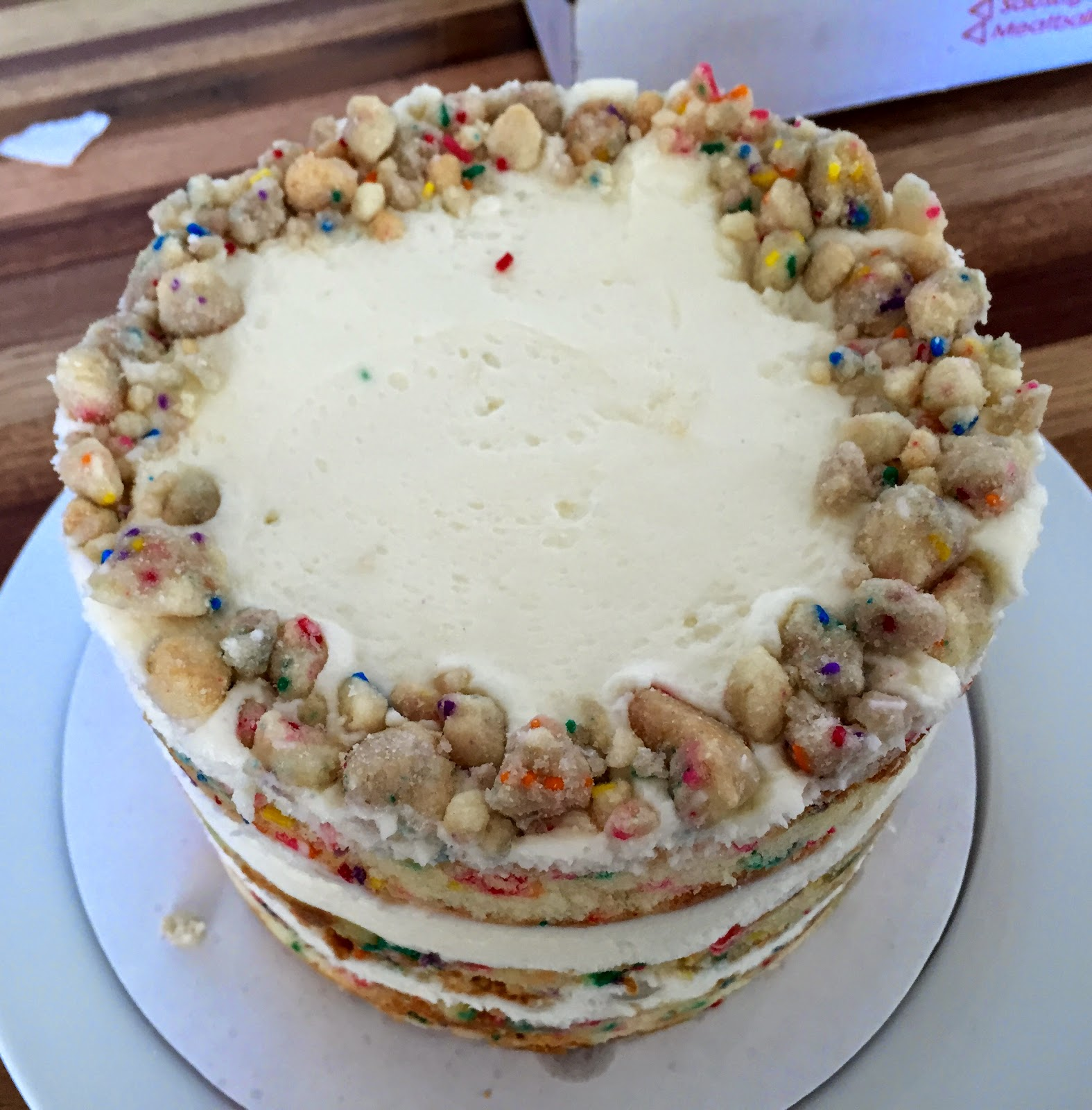 For Many Of Us This Cake Evokes The Vision A Small Round With Birthday Candles Sprinkles And Funfetti Frosting Tosi Takes Classic Memory