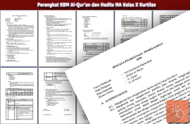 Perangkat KBM Al-Qur'an dan Hadits MA Kelas X Kurtilas