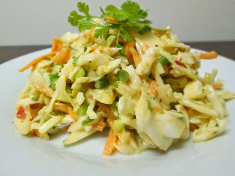 Sweet and Spicy Coleslaw side