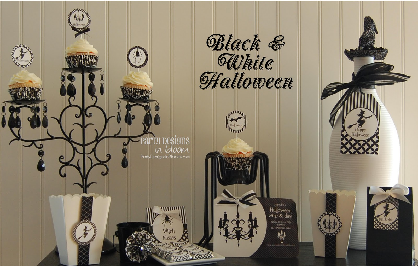 this black white halloween collection is great for an adult or ladies party i look forward to sharing all the details with you soon - Black And White Halloween Party