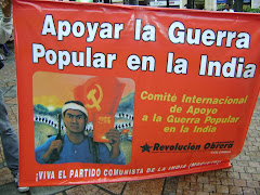 Apoyo a la Guerra Popular en la India en Cali, Colombia.