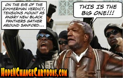 obama, obama jokes, black panthers, zimmerman, trayvon martin, sanford, hope n' change, race riots, hope and change, stilton jarlsberg, tea party, conservative, look like Trayvon, trial, Fred Sanford, Sanford and Son