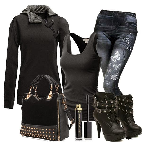 Black Winters Outfit Set.