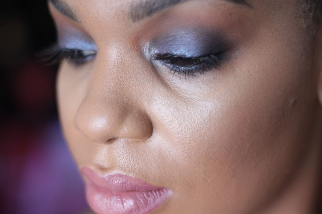 smokey eyes for black women blue