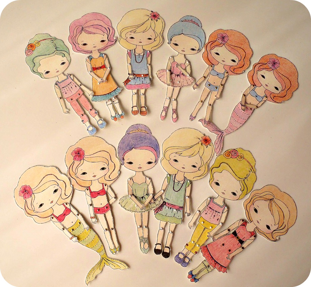 Gingermelon Dolls New Collection of Paper Dolls