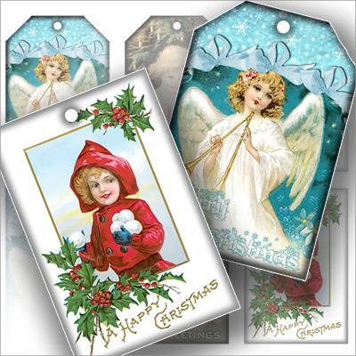 Christmas Gift Tag Clip Art