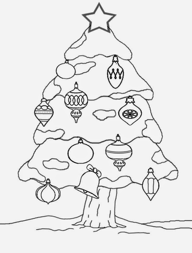 Coloring pages xmas decorations - Enjoyable Family Christmas Decorations Outdoor Xmas Tree Cool Drawing Ideas For Teenagers To Color