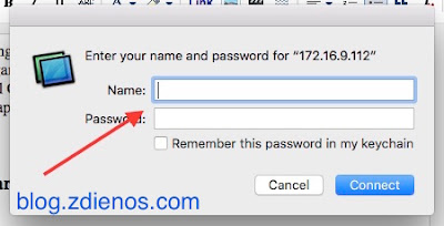 Mengakses Mac OS X melalui Screen Sharing