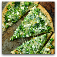 Easy Broccoli Cheese Pizza