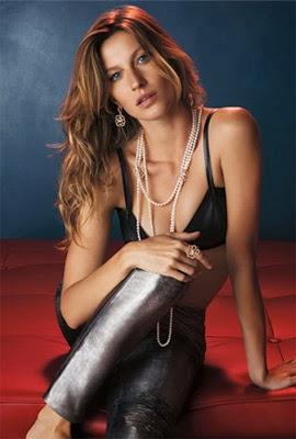 brinco anel e colar de perola Vivara campanha natalina Gisele Bündchen