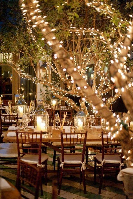 iluminación exterior boda