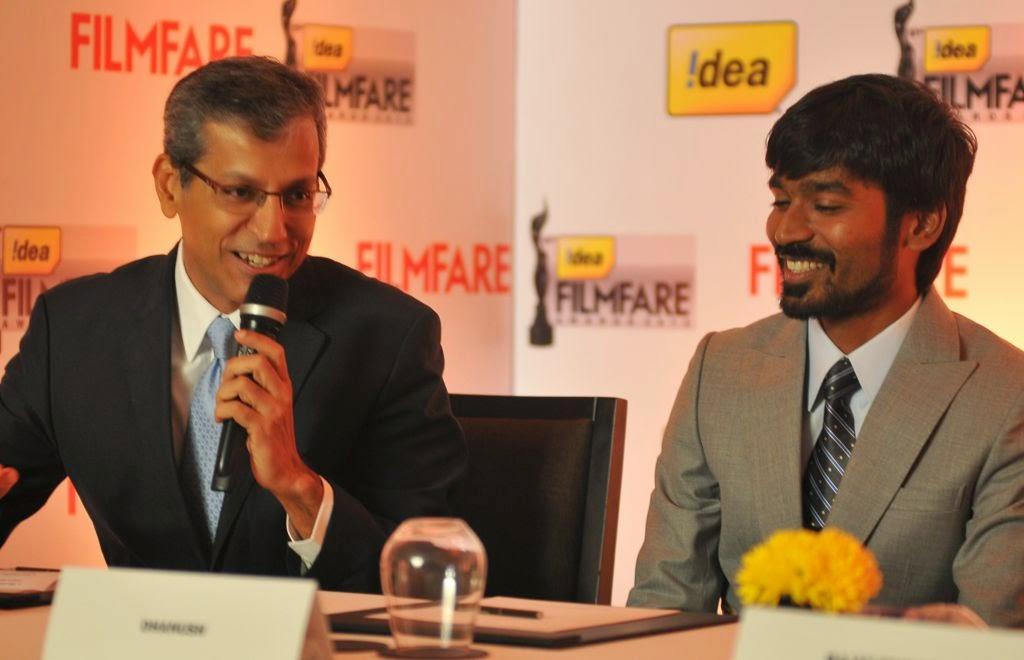 Dhanush at Idea film fare awards-HQ-Photo-3