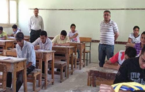 بدء امتحانات الشهادة الإعدادية الصف الثالث الاعدادي 2104 ، غدا بمحافظة كفرالشيخ