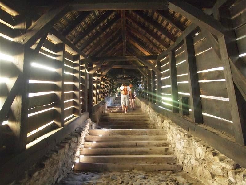 Escalera de los escolares en Sighisoara