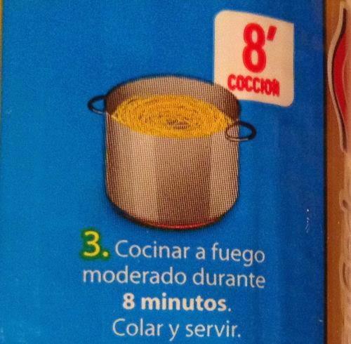 instrucciones para cocinar fideos