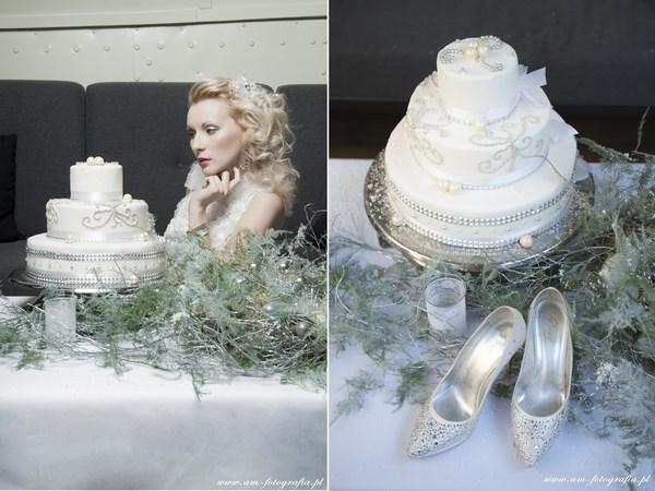 Zimowa aranżacja stołów weselnych