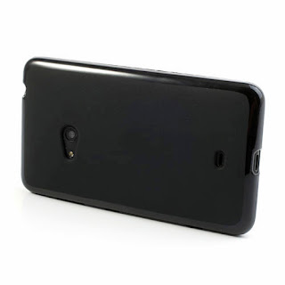 Frosted TPU Jelly Case For Nokia Lumia 625 - Black
