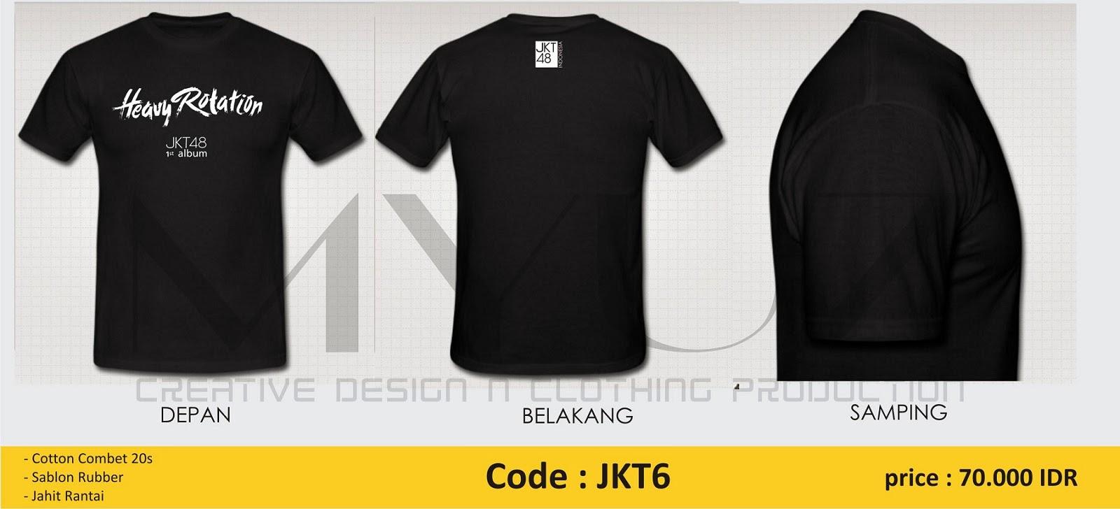 Desain t shirt jkt48 - Desain T Shirt Jkt48 Kaos Jkt48