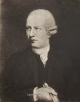 """Jan Frans Van Der Straelen 1731-1801 met rol papier in de hand waarop is geschreven: """"A 1778"""", wat vermoedelijk het jaar waarop het portret werd geschilderd."""