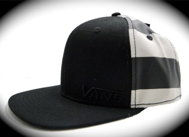 NEW VANS OFF THE WALL SKATE MENS BLACK HAT  LOGO ll NWT ONE SIZE