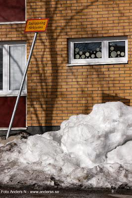 snötippning förbjuden