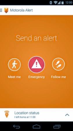Motorola Alert, memberitahukan teman dan keluarga jika dalam keadaan darurat