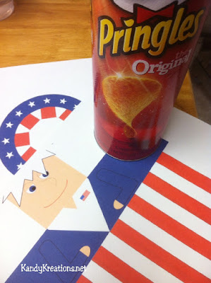 Uncle Sam Printable Pringles Can WRapper