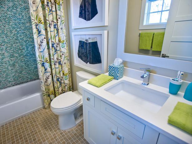Modern furniture kids bathroom pictures hgtv smart home for Kids bathroom ideas for boys