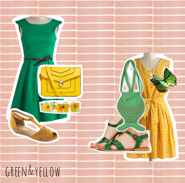 colour love   green and yellow