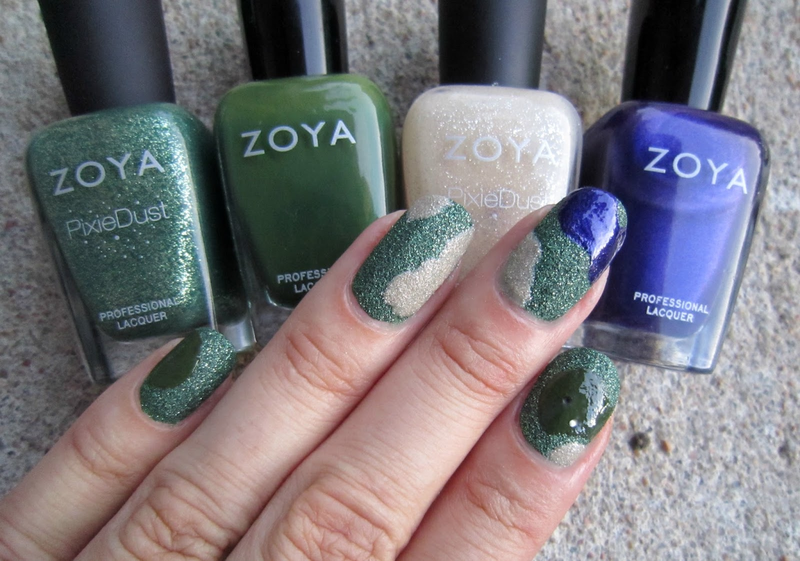 A Friend Of Mine Suggested That I Try Some Golf Course Nail Art When They Saw The Gorgeous Zoya Chita Ve Never Played Or Watched But Decided To