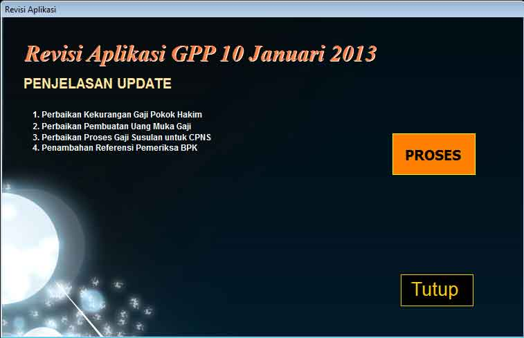 Update Aplikasi GPP Satker (10-01-2013) -  [Added: Jumat, 11 Januari 2013]