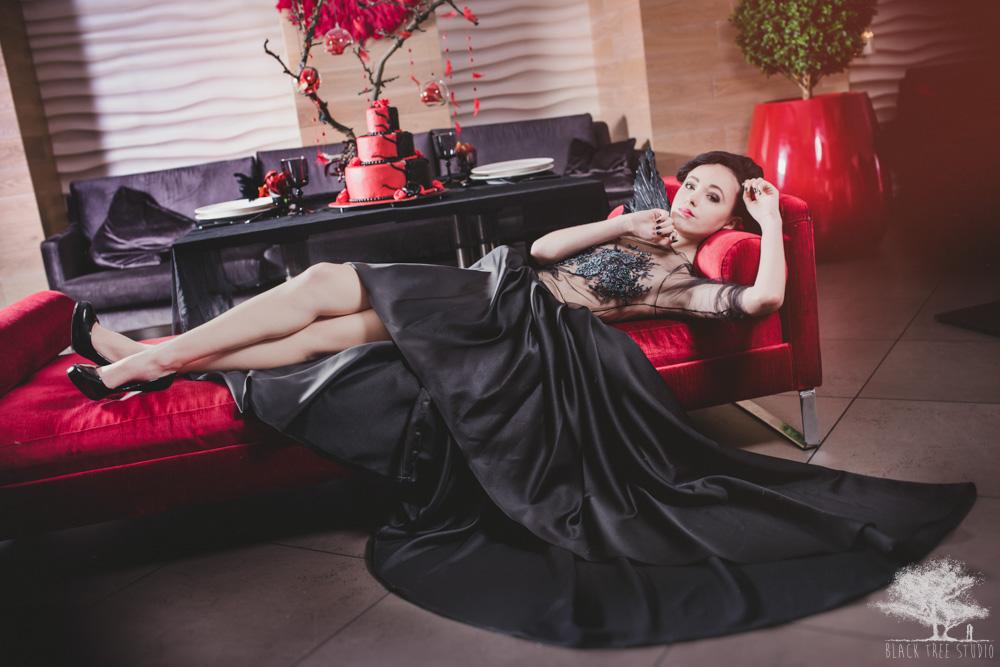 Czarna suknia ślubna