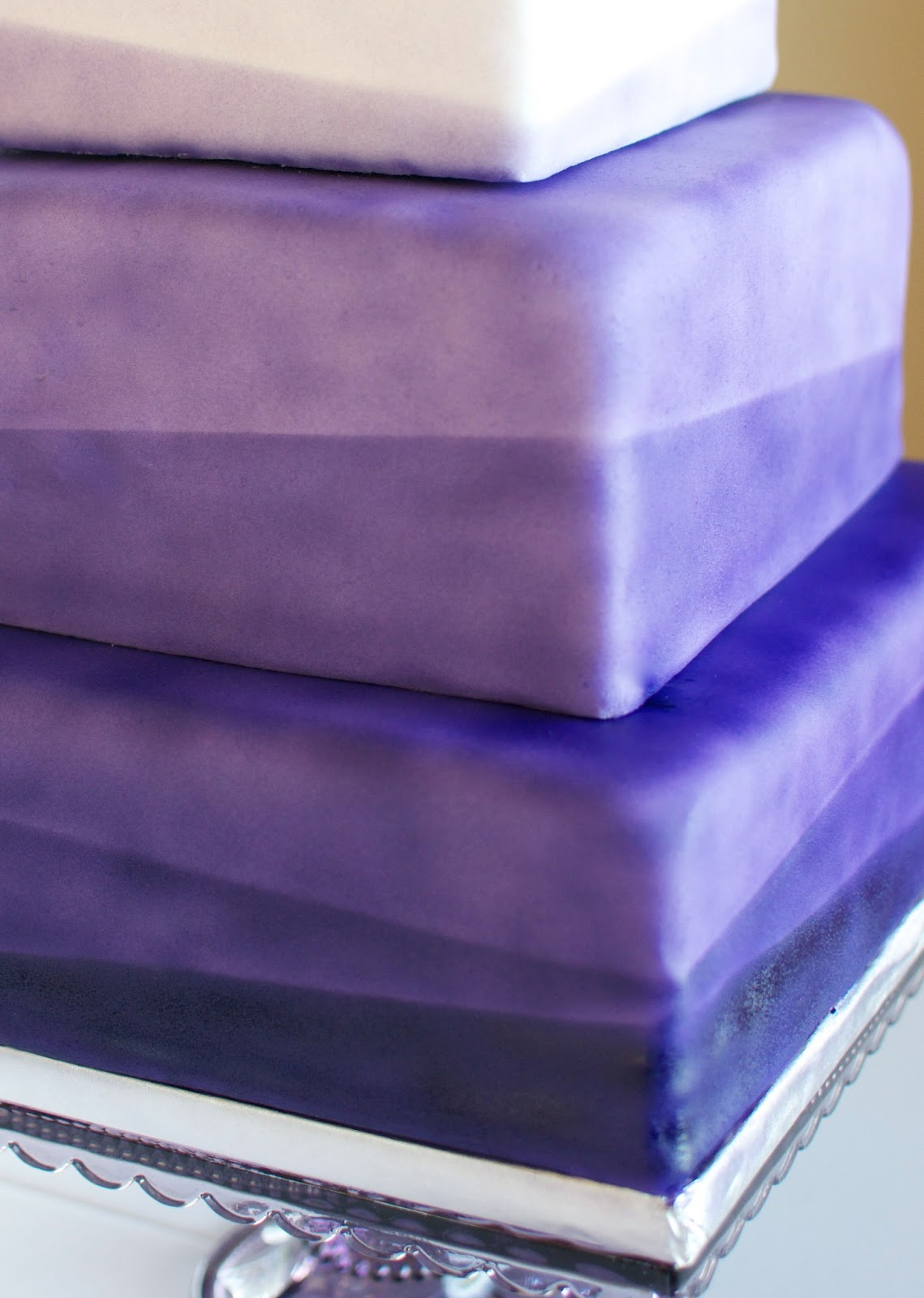 THE MIGHTY BAKER Purple Ombre Wedding Cake & Dessert Catering
