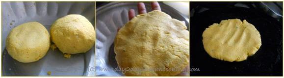 step 1 of making makki ki roti