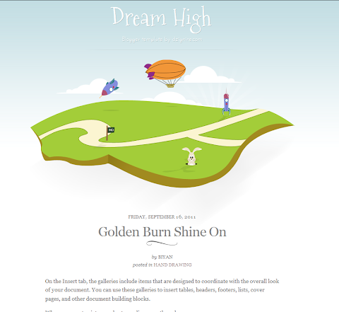 Dream High Blogger Theme