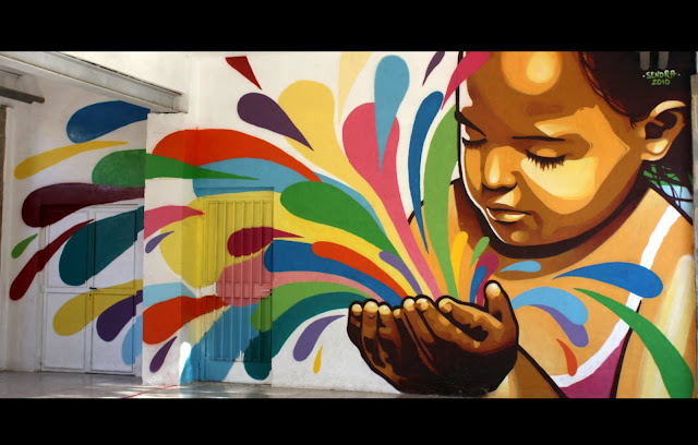Rpsendra murales para ceip jaime balmes for Murales faciles y creativos