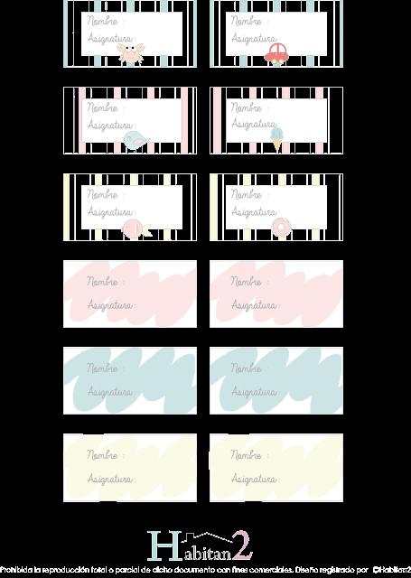 Pegatinas marcalibros gratis diseño de Habitan2