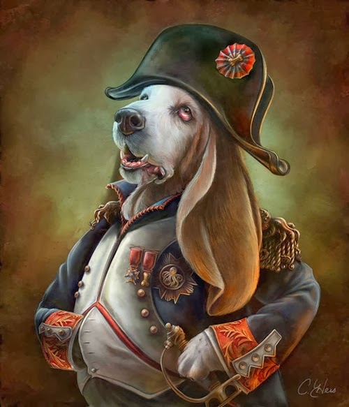 07-Napoleon-Bonaparte-Animals-From-History-Illustrator-&-Writer-Christina-Hess-www-designstack-co