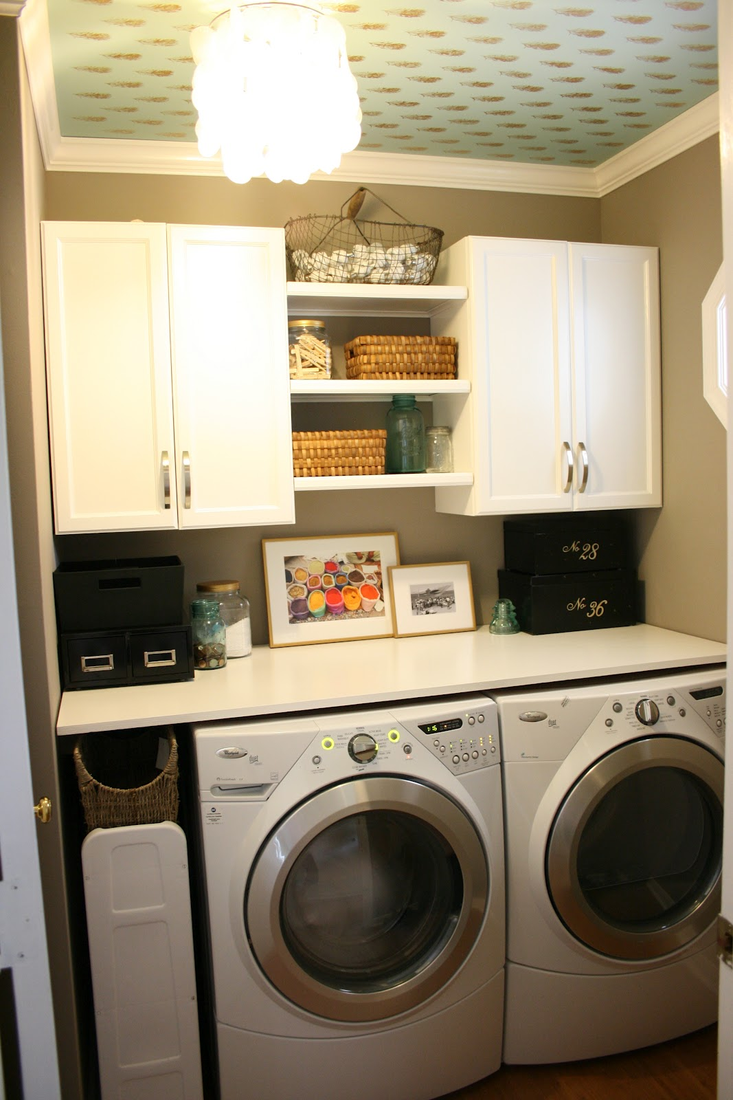 The boutons laundry room for Laundry room shelving