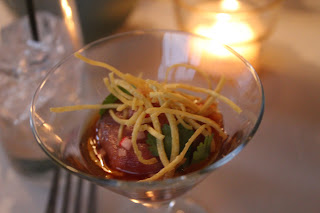 Tuna tartare at Mistral, Boston. Mass.