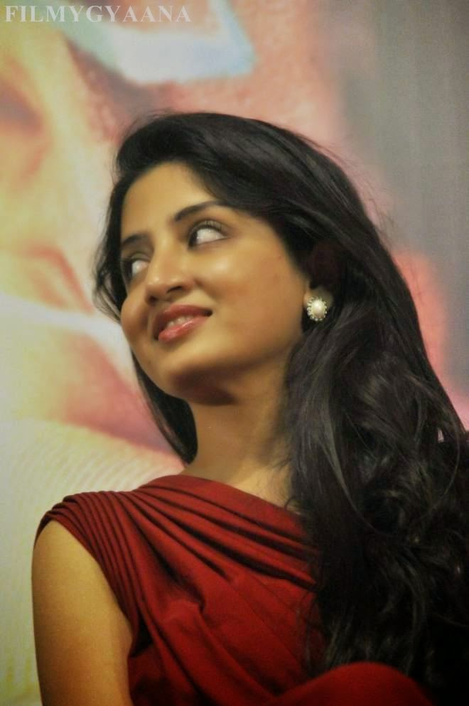 Poonam Kaur Hot Red Gown Dress Photos