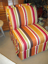 Bright and Beachy Armless Chair