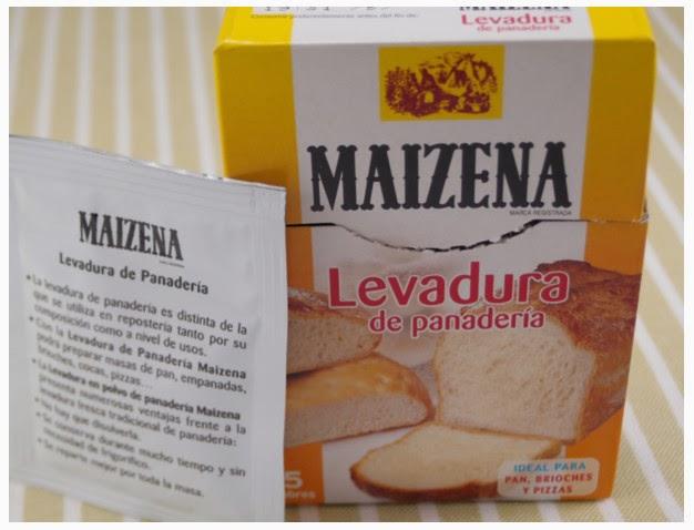 levadura de panadero seca caja y sobre maizena