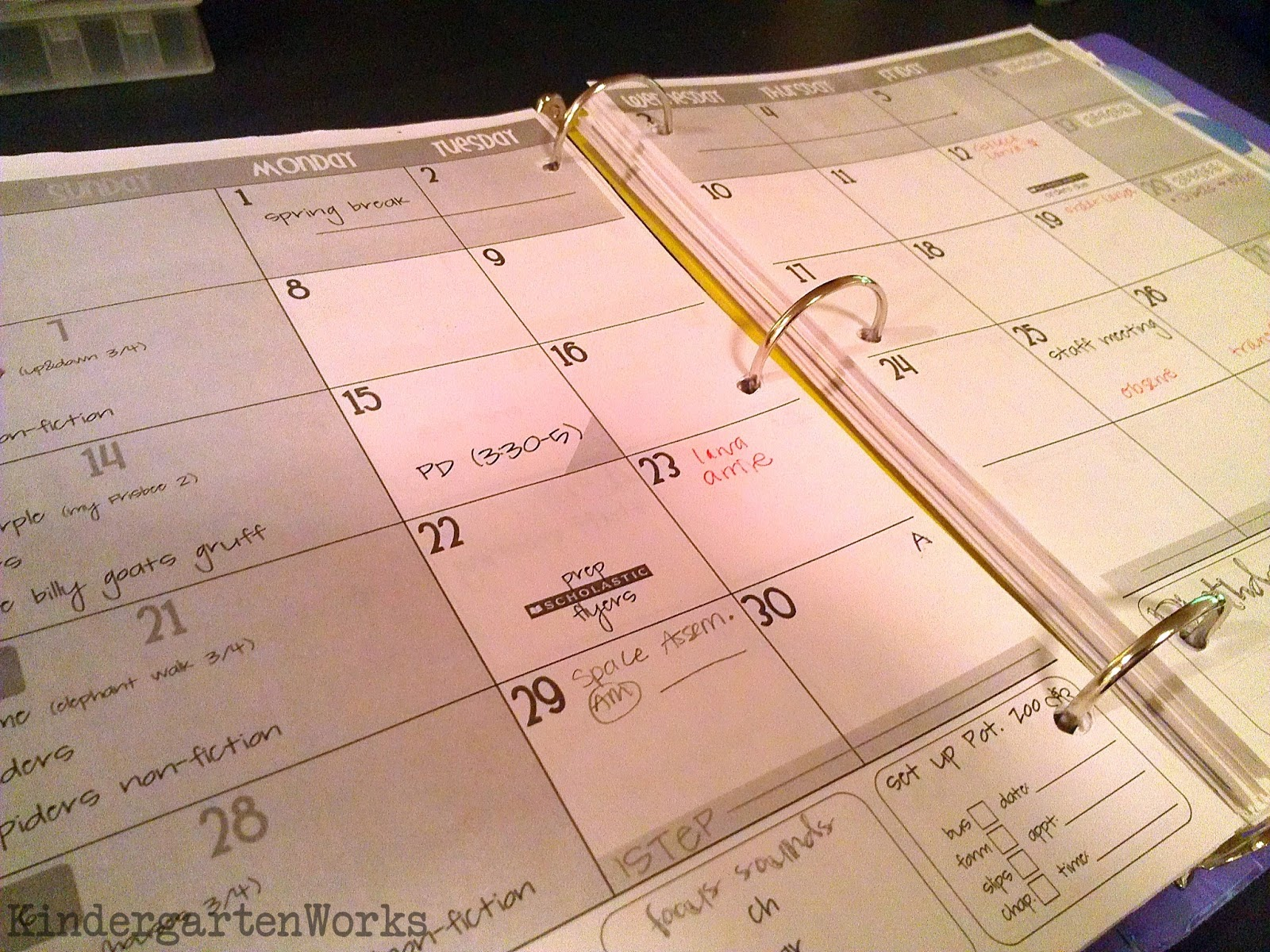 binder basics  how to make a teacher planning binder