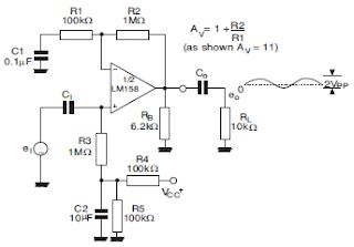 LM358 Amplificador no inversor.