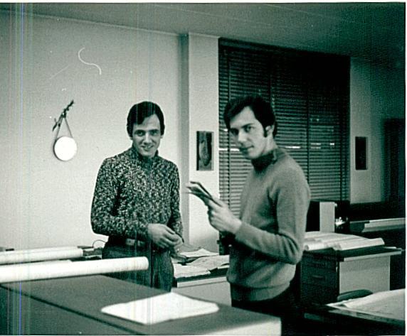 "Below Aldo Gariglietto Brachet at work in the office (first left) to the firm ""ARIS-CHIAPPA"""